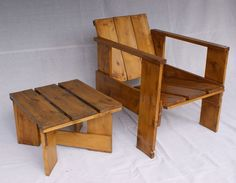 """Vintage, 1930s style """"crate chair"""" - perfect for the garden"""