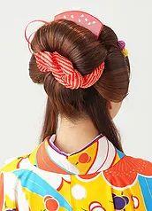 精錬された日本の伝統美【日本髪】5000円(税抜)毛束を結わえるスタイリストの卓越した技術 艶と毛流れで引き出した 「奥ゆかしさと華やかさ」成人式や結婚式の花嫁姿に、ゆめやかたの◆正統派 新日本髪◆
