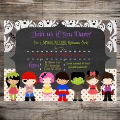 HALLOWEEN Costume Party Invitation PRINTABLE by myhappylifedesigns