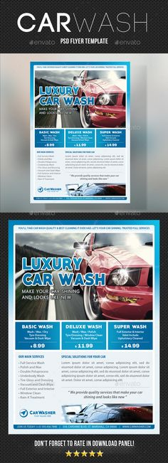 Car Wash Service Flyer Template AI, PSD Cars Pinterest Car - car flyer template