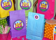 Custom Bounce House Goody Bags w/Sticker Seals. Bounce House Party. Bounce House Birthday. Bounce House Favor Bags. Set of 10. Pick Size on Etsy, $13.00