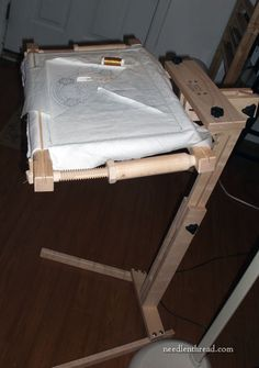 """Necessaire Floor Stand.  This one is relatively inexpensive compared to many other stands.  Made in the UK, under $200, even works well at a sofa or comfy chair (not a recliner when """"reclined"""" but probably when upright)."""