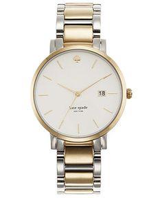 kate spade new york Watch, Women's Gramercy Two-Tone Stainless Steel Bracelet 38mm 1YRU0108 - Kate Spade - Jewelry  Watches - Macy's