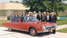 The Chrysler Research Design personnel, Department 961, in front of the Greenfield Road facility circa 1964. The author, Robert Pauley, is at the far left.