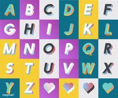 K collection v alphabet set i Free Vector V Alphabet, Capital Alphabet, Mouse Costume, Letter V, Set Me Free, Three Dimensional, Typography Design, Free Images, Literacy