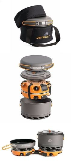 The Jetboil Genesis Base Camp 2 Burner System is a group cook stove for meal time at base camp. Included with the dual burners is a 10 fry pan, a 5L FluxPot with lid, and a carrying case to keep them all together while traveling. This can quickly get 1 l