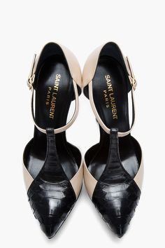 Saint Laurent Janis T-Strap Pumps _