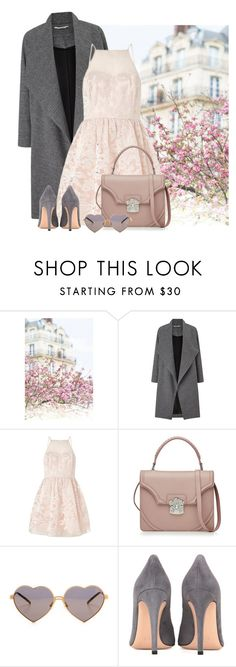 """""""Spring Blooms"""" by cherieaustin ❤ liked on Polyvore featuring Miss Selfridge, Lipsy, Alexander McQueen, Wildfox and Gianvito Rossi"""