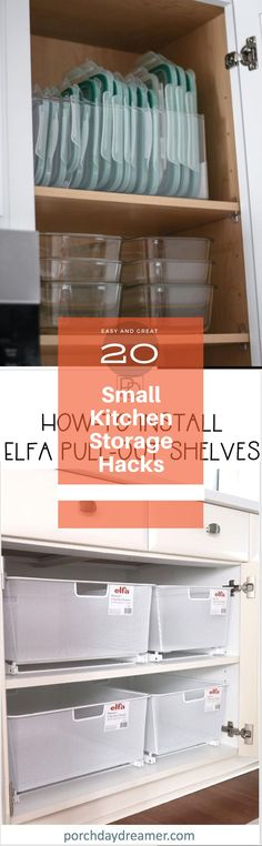 Customize your kitchen cabinets with storage and organization that suits your needs and lifestyle. Kitchen Storage Hacks, Kitchen Hacks, Kitchen Organization, Storage Ideas, Kitchen Ideas, Small Kitchens, Cool Kitchens, Diy Kitchen Decor, Diy Decoration