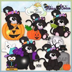Halloween Black Cats 1 - NE Kristi W. Designs Clip Art : Digi Web Studio, Clip Art, Printable Crafts & Digital Scrapbooking!