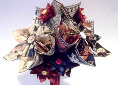 The Craft Life: Amazing Creations by Dana Parlevliet - Graphic Folded Paper Flowers, Duct Tape Flowers, Scrapbook Paper Crafts, Paper Crafting, Scrapbooking, Multi Colored Flowers, Graphic 45, Flower Tutorial, 4th Of July Wreath