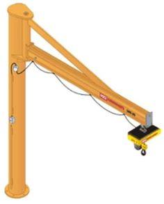 Pillar slewing jib crane (overbraced) 125 - 2 000 kg, 2 - 6 m   IPOP series KCI Konecranes International