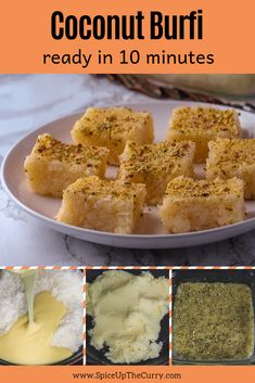 Make this easy, quick coconut burfi recipe with condensed milk during this festive season. Coconut Barfi Recipe, Coconut Burfi, Burfi Recipe, Coconut Sweetened Condensed Milk, Sweet Condensed Milk, Condensed Milk Recipes, Diwali Snacks, Diwali Food, Diwali Recipes
