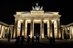 Brandenburg Gate, Berlin, Germany. Back in the day this was part of EAST BERLIN.