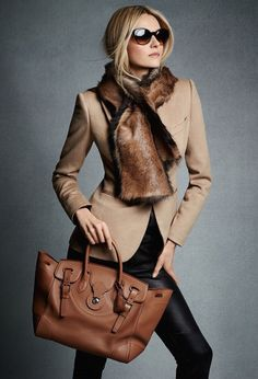 Ralph Lauren Black Label Pre-Fall 2014 - Very Classic and Chic - Love This Look Style Work, Mode Style, Office Style, Mode Outfits, Winter Outfits, Look Fashion, Womens Fashion, Fashion Trends, Fall Fashion