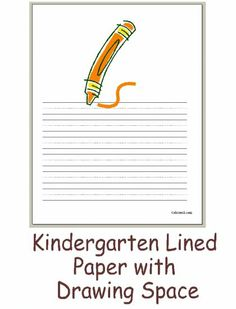 Paper writing company with picture box kindergarten