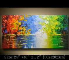 contemporary wall art, Palette Knife Painting,colorful tree painting,wall decor Home Decor,Acrylic Textured Painting ON Canvas by Chen 0830 Texture Painting On Canvas, Palette Knife Painting, Acrylic Painting Canvas, Diy Canvas Art, Textured Painting, Colorful Trees, Contemporary Wall Art, Landscape Paintings, Etsy