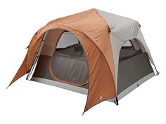 Bass Pro Shops® Five Person Speed Frame Tent | Bass Pro Shops // Delivering enough room to sleep 5 comfortably, this tent provides trustworthy protection with a body and rainfly made of a durable 190T poly with a 600mm PU coating. #campinggear #fathersdaygifts #mangifts
