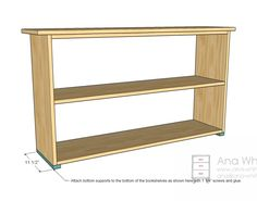 Simple Bookshelves Plan - Bottom Supports.