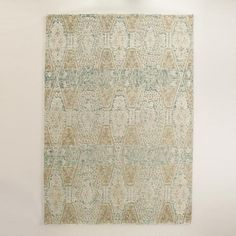 One of my favorite discoveries at WorldMarket.com: Blue and Gold Tufted Wool Soraya Area Rug