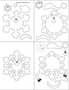 Molde para imprimir de la cara de minnie mouse ideas - Copos de nieve manualidades ...