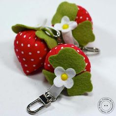 Tutorial keychain. http://hobby-di-carta.blogspot.it/2013/10/fragoline-dinverno.html