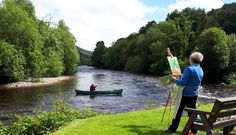 Artist painting the view down the Avoca River. Rod Coyne's August 2018 Painting Workshop promises quality time channeling poet laureate Thomas Moore down by the Meetings of the Waters. Painting Workshop, Quality Time, Artist Painting, Poet, River, School, Rivers