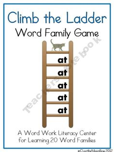 Climb the Ladder Word Family Game