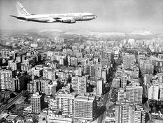 Boeing 707 Inter-continental Jet Airliner Over Johannesburg