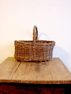 Vintage 50s Handle Basket / Soviet  vintage от OldMoscowGallery