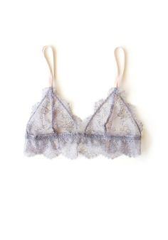 Adelphi Gray Lace Bralette | ElmaShop on Etsy