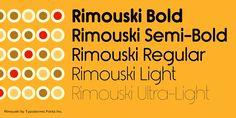 Rimouski Font Poster