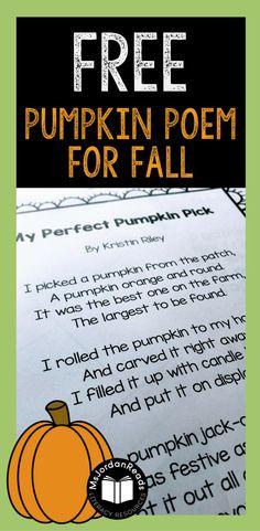 FREE Pumpkin Poem fo