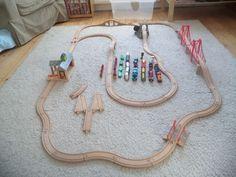 Brio, Ikea, Big Jigs & Tesco Childrens Wooden Train Set Bundle