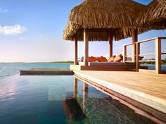 """For the love of """"Overwater Bungalow"""" hotels - here's some of the best! One can daydream right? Time to #travel we're thinking!"""