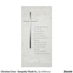Christian Cross - Sympathy Thank You Photo Cards