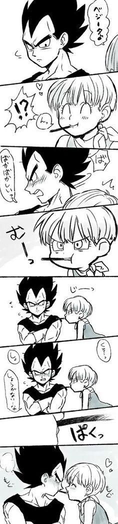Dragon Ball Z - Vegeta & Bulma Chrono Trigger, Akira, Dragon Ball Z, Goten Y Trunks, Goku And Chichi, Dbz Vegeta, Manga Anime, Db Z, Cute Dragons