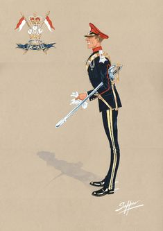The Lancers, Officer in Mess Dress, 2018 British Army Uniform, British Uniforms, Army & Navy, Military Uniforms, Military History, Caricatures, Badges, Colonial, United Kingdom