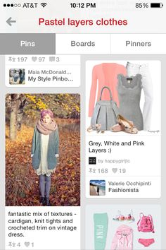 Pink and greys