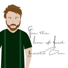 Doodling for Ben. . . . #morelater #dadboss #business #oneoftheguys #portret #doodle #foodlover #meatlover #illustration #illustratie #leonieverver