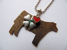 Stock Show Steer Necklace by Whippoorwill Valley