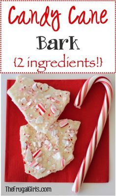 Candy Cane Bark Recipe ~ from TheFrugalGirls.com ~ this delicious Peppermint Bark is only 2 ingredients and SO yummy! It also makes a great gift in a jar! #Christmas #recipes #thefrugalgirls