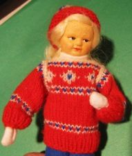 Vint NM tag Norway Norwegian Ronnaug Pettersen Winter girl Sweater Scandinavian Charlotte, Dolls, Christmas Ornaments, Holiday Decor, Winter, Sweaters, Home Decor, Fashion, Baby Dolls