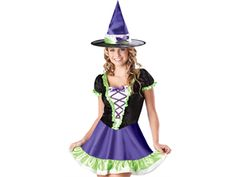 Teen Girls Cute Witch Halloween Costume Dress