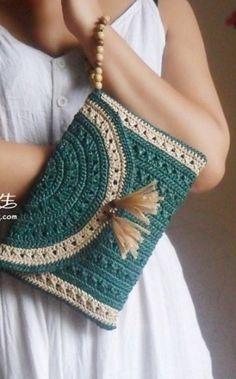 Crochet Handbag: picture tutorial on construction