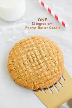 Recipe for One Peanut Butter Cookie! Flourless and only 3 ingredients!