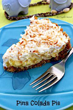 Piña Colada Pie - The Complete Savorist Coconut Recipes, Baking Recipes, Pie Recipes, Coconut Bars, Shake Recipes, Pina Colada Pie Recipe, Empanadas, Pie Dessert, Dessert Recipes