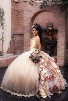 Quinceanera Ballgown Champagne is THEE color!!! @Jay C Lerma