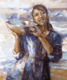 'Watervanger'/ Water catcher 1m x 1.2m Oil Painting by Weyers du Toit 2014 www..weyersdutoit.co.za