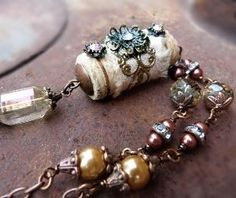 Wine and Silk upcycled wine cork necklace by freerangeart, $37.50 by eloise